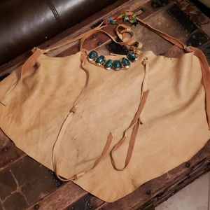 Tops - Sexy leather hippy chic apron s -l
